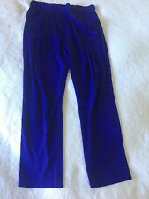 Womens 3.1 PHILLIP LIM SILK TAILORED PANTS BLUE DESIGNER RACES 10
