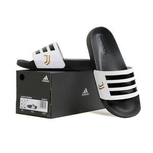 Adidas Adilette Shower Juventus Slides Sandals Slipper Black/White FW7075