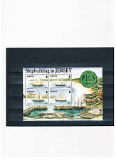 GB-Jersey 1992,Block 6,Shipbuilding in Jersey,mint