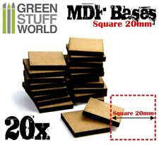 20x MDF Basen 20mm QUADRAT Holz Modellbau Rollenspiele Tabletop Infanterie AOS