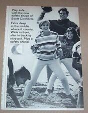 1965 print ad - Confidets feminine hygiene cute girls Beach football advertising