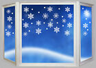 CHRISTMAS  SNOWFLAKES & SNOW DROPS  WALL / WINDOW STICKERS X MAS DECORATIONS