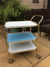 vintage drinks trolley Gold Metal Tea Trolly Removable Tray