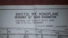 Model aircraft plan (Bristol M1C monoplane by D.Boddington)