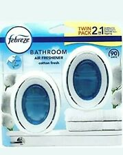 FEBREZE TWIN PACK COTTON FRESH 2 IN 1 BATHROOM AIR FRESHENER 7.5ML ODOUR CLEAR