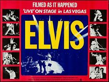 "ELVIS THAT'S THE WAY IT IS - LIVE UK QUAD CINEMA REPRO POSTER 30X40"" VEGAS"