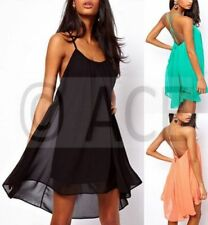 Chiffon Backless Dresses for Women