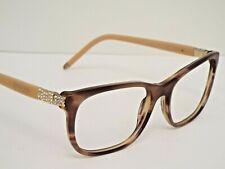 Authentic BVLGARI BV4087B 5240 Striped Brown Beige Eyeglasses Frame $349