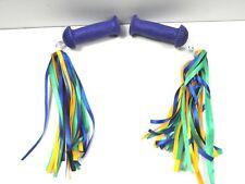 Widek Kinder Fahrradgriff mit Prallschutz Blau m Fransen Grün/Blau 21078+ 02948