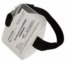 Vertical Arm Band ID Badge Holder Black or White Strap