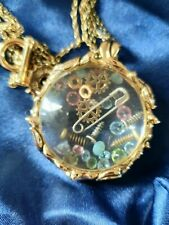 Disney Couture Pixie Hollow Tinkerbell Lost Things Glass Case Necklace In Bag