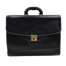 Vintage The Bridge Aktentasche Briefcase Leder Leather Busin Italy Schwarz Black