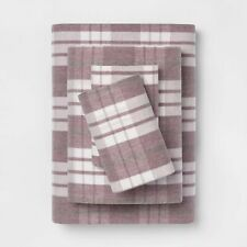 Twin Printed Flannel Sheet Set - Threshold