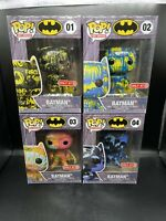 Funko POP! Batman Art Series #1 #2 #3 #4 Set of 4 Target Exclusive Complete Set