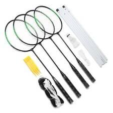 US Recreational Badminton Set for Backyard Brand New 4 Rackets Net Case Outdoors