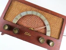WORKS! Original Vintage Wood Silvertone Mid Century Tube Radio Model 1017-1018
