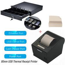 Heavy Duty Cash Drawer Box80mm Usb Thermal Receipt Pos Printer Auto Cutter Z3n1