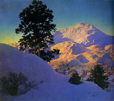 Winter Sunrise  by Maxfield Parrish   Giclee Canvas Print Repro