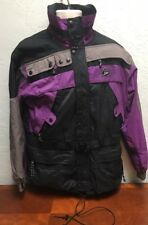 Vintage Boulder Lite Gear Ski Jacket Parka Purple Black No Hood Coat Mountain S
