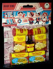Kaufladen Zubehör OVP Beutel um 1970 tolles MAGGI SET mit Fläschen West Germany