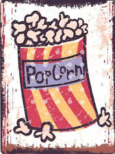 POPCORN METAL WALL SIGN RETRO VINTAGE STYLE 12x16in 30x40cm home cinema man cave
