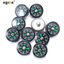 10pcs/lot Compass Snap Charms 18mm Snap Button  Multi Color Snap Jewelry KZ0967