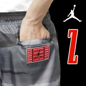 MEN'S NIKE AIR JORDAN LEGACY AJ11 RETRO SHORTS JUMPMAN GRAY BLACK RED  2XL