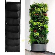 7 Pocket Wall Hanging Vertical Garden Planter Indoor Outdoor Herb Pot Decor New