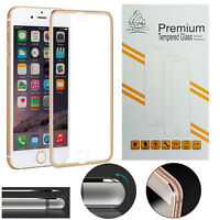 Metal Edge iPhone 7 Plus Gold Gorilla Tech Brand Screen Protector Tempered Glass
