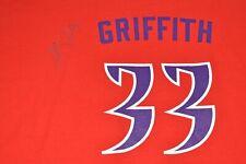 Autograph Signed Sacramento Monarchs 33 Yolanda Griffith WNBA Red T-Shirt XL