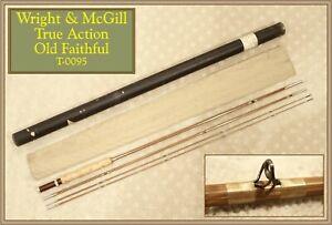 Wright & McGill True Action Old Faithful 9' 3/2 Vintage Bamboo Fly Rod