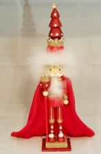 """Tree King Nutcracker Red Wood Decor Christmas 15"""" Hollywood Kurt Adler Gift"""