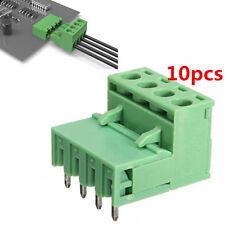 2EDG 4Pin steckbare Terminal Block Steckverbinder 5.08mm Teilung Rechtwinklig×10