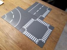 3 Lego Strassenplatten Grundplatte Bauplatte City Town Street