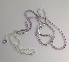 Long Diamanté Necklace. Flapper Fancy Dress , Dressing Up Fun F125 Purple