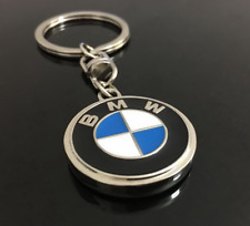 "BMW Logo Keychain Key Tag Car SUV Truck Series logo 1.14"" round USA1"