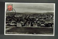 1936 Iceland Real Picture Postcard Cover Reykjavik Daytime City View