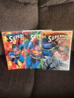 SUPERMAN DOOMSDAY: HUNTER / PREY~BOOKS 1-3~DAN JURGENS~BRETT BREEDING~DC~1994