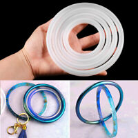 Bracelet Resin Casting Silicone Mold Round Keychain Bag Handle Jewelry Craft Df8