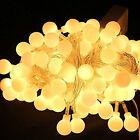33ft/10M 100 LED Globe String Lights Warm White Ball Fairy Light Xmas Party USA