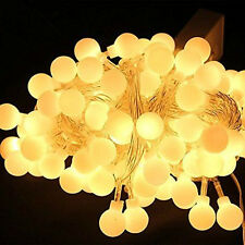 4m 40LED Globe Bulb Ball Xmas String Curtain Lamp Fairy Light Warm White Decor
