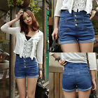 New Vintage Cuffed Women Sexy Pants Casual Denim Shorts High Waist Jeans Short