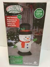 Airblown Inflatable Jolly Snowman 3.5 Foot Lights Up #876455