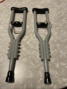 Build a Bear Workshop Crutches Used for American Girl Also ~ Grey Gray BABW
