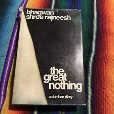 The Great Nothing Osho Rajneesh First Edition HC DJ