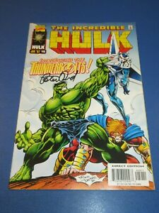 Incredible Hulk #449 1st Thunderbolts Key Signed by Peter David VFNM Beauty