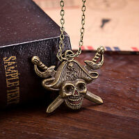 Men's Black Stainless Steel Pirate Skull Cross Anchor Gothic Pendant Necklace