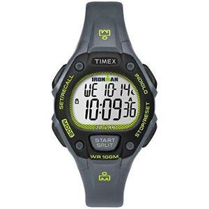 "Timex TW5M14000,  Women's ""Ironman"" 30-Lap Gray Resin Watch, Alarm, Indiglo"