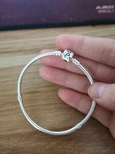 New Genuine Silver Pandora Clasp Starter Charm Bracelet 17cm