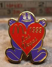 McDonalds Grimace Las Vegas Heart 1999 Collectible Pinback Pin Button